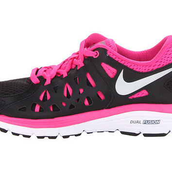 Nike Dual Fusion Run 2 Shoes Black Pink Foil White