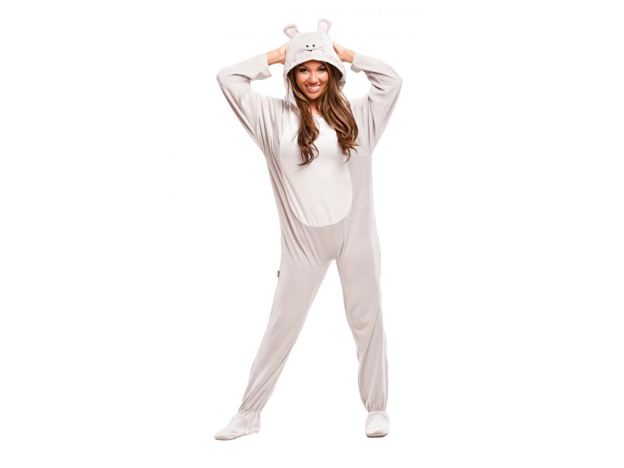 Grey mouse costume for adults