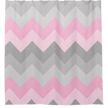 Pink and grey curtains