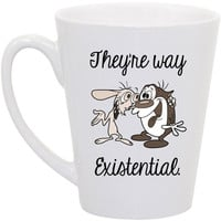"Clueless- Ren and Stimpy ""They're way existential"" coffee mug"