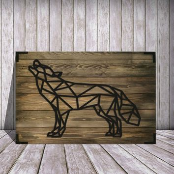Wolf Wooden Wall Art