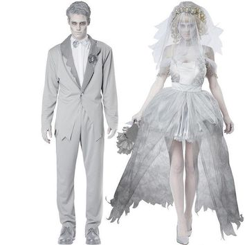 DCCK0OQ Disney Halloween Zombie Couple Wedding Dress [8939093639]