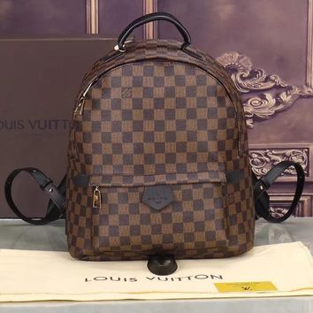 Day-First™ LV Women Casual School Bag Cowhide Leather Backpack