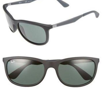 UCANUJ3V Ray-Ban Wayfarer 59mm Matte Black/Green Sunglasses