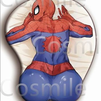 Spider-Man Mask Cosplay bust computer Game Mouse Mat mouse pad 3D Bust Cos Gift