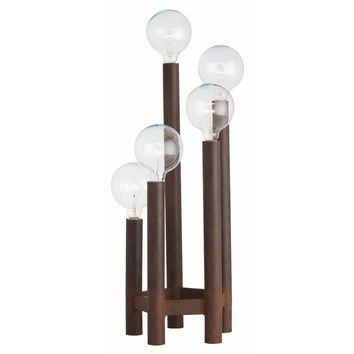 Pre-owned 5-Light Torchiere Table Lamp