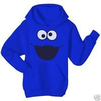 Sesame Street Adult Cookie Monster Sweatshirt with Hoodies Medium