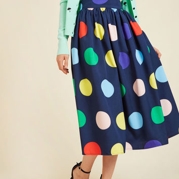 Friends Over Pho Midi Skirt | Mod Retro Vintage Skirts | ModCloth.com