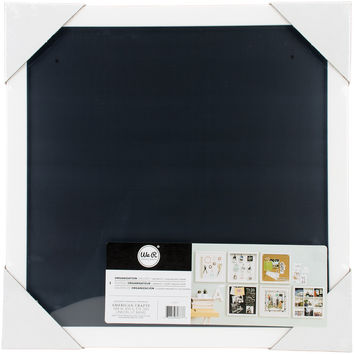 "NEW! We R Organization Gallery Shadow Box Frame 17""""X17""""X2""""-Magnetic Chalkboard"