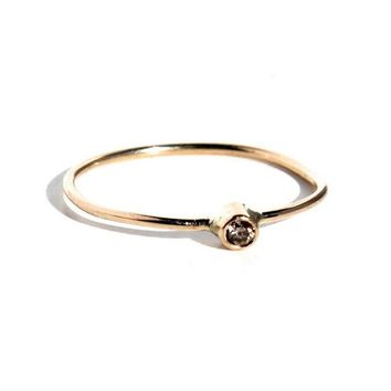 14K Chocolate Diamond Ring
