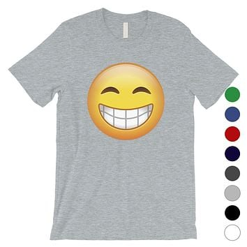 Emoji-Smiling Mens Happy Grateful Cool T-Shirt Gift For a Friend