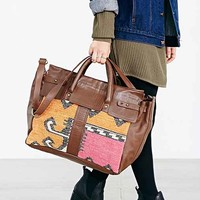 Ecote Kilim + Leather Doctor Bag- Brown One