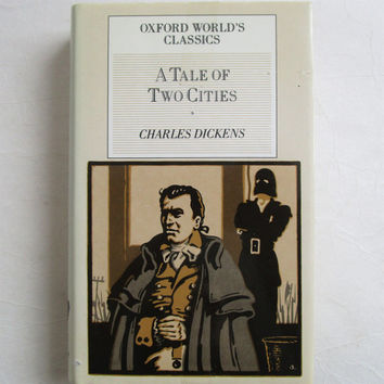 Vintage 80s Hardcover Pocket Books Oxford Classics 1980s Charles Dickens A Tale of Two Cities 1985