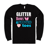glitter bows toes cheerleader shirt