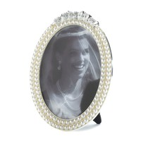 Strands Of Pearl Oval Picture Frame 5X7