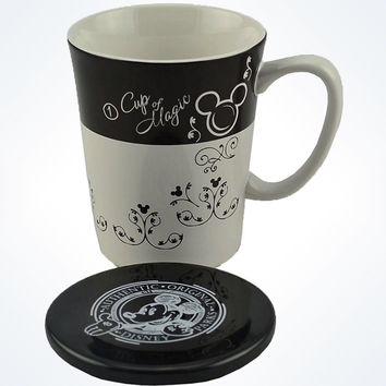 Disney Parks Mickey Icon Gourmet Kitchen 1 Cup Of Magic Mug With Lid New