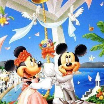 5D Diamond Painting Minnie and Mickey Ring the Bell Kit