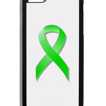 Lyme Disease Awareness Ribbon - Lime Green Black Dauphin iPhone 6 Plus Cover by TooLoud