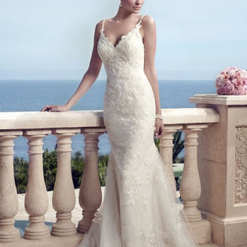 Casablanca Bridal 2153 Tank Lace Fit & Flare Wedding Dress