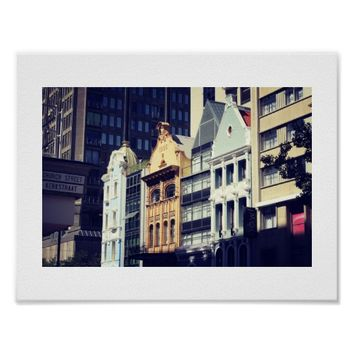 Cape Town Architecture Street View Poster