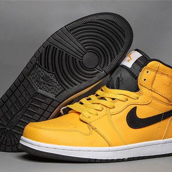 Air Jordan 1 Mid Yellow/Black