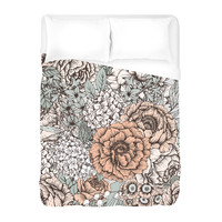 Muted Floral Duvet Cover