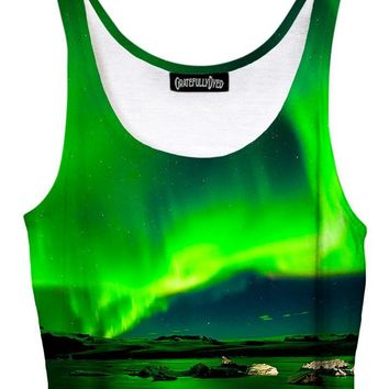 Borealis Northern Lights Galaxy Crop Top