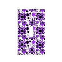 Purple Floral Girl Light Switch Cover