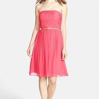 Donna Morgan 'Donna' Belted Chiffon Dress
