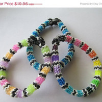 ON SALE Set of 3 Hexafish Rainbow Loom Bracelets, Party Favors, Jewelry