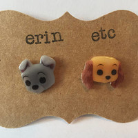 Handmade Plastic Fandom Earrings - Cartoon - Lady and the Tramp