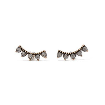 Curved Faux Gemstone Studs