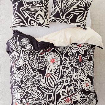 Briana Botanical Duvet Cover | Urban Outfitters