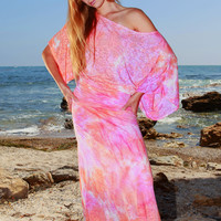 Butterfly Maxi Dress tie dyed
