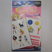 Official Sailor Moon Temporary Tattoos Kawaii Bodyart Accessory - perfect gift for the Sailor Senshi within or stocking filler