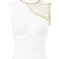 Accessories : Gold Tone House Of CB Shoulder Chain