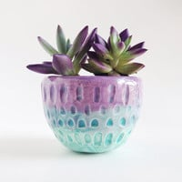 Ceramic Planter - Ceramics and Pottery - Purple Plant Pot