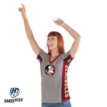 ICIKG8Q NCAA Florida State Seminoles Women's Hands High Sideline Shirt