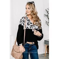 A Love Like You Leopard Pointelle Top