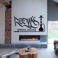 Wall Decal Sticker Hookah Hooka Shisha Lounge Relax Inscription Bar Hause M1576