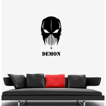 Wall Decal Demon Mask Monster Killer Maniac Vinyl Sticker Unique Gift (ed703)