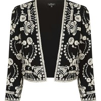 PETITE Lace Embroidered Jacket   Topshop