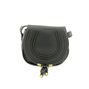 Chloe Marcie Black Leather Small Round Crossbody Bag 3P0580-161-1