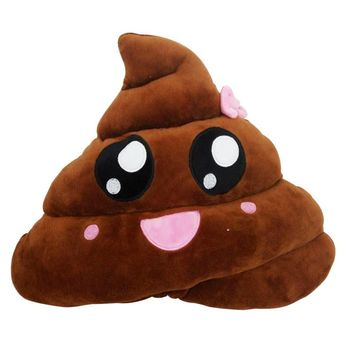 Amusing Emoji Emoticon Cushion Heart Eyes Poo Shape Pillow Doll Toy Gift New