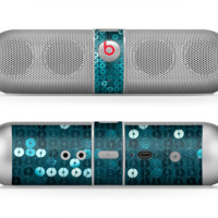 The Teal Sequences Skin for the Beats by Dre Pill Bluetooth Speaker