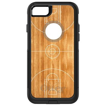 DistinctInk™ OtterBox Commuter Series Case for Apple iPhone or Samsung Galaxy - Basketball Court Layout
