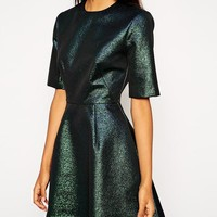ASOS | ASOS Holographic Shift Dress at ASOS
