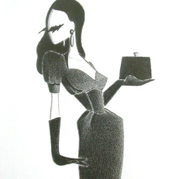 Fashion illustration / original pencil drawing / art