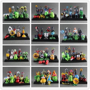 Plants vs Zombies Action Figures Toy Doll Set for Collection Party Decoration