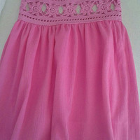 Summer crochet and Sile cotton fabric for flower girls